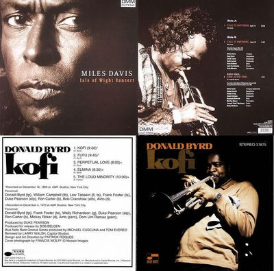 Miles Davis: Isle of Wight Concert + Donald Byrd: Kofi